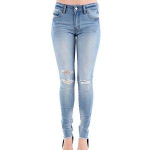KanCan ripped destroyed denim skinny jeans